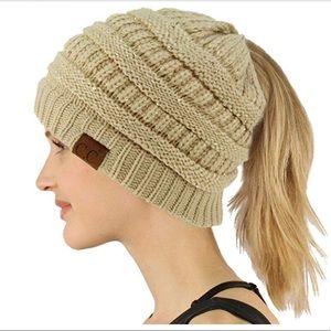 Accessories - CC Ponytail Beanie Hat